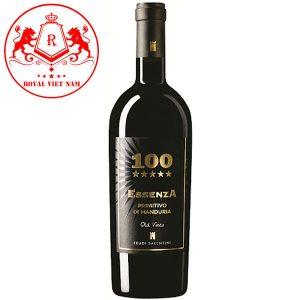 Rượu Vang Essenza 100 Feudi Salentini