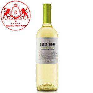 Rượu Vang Carta Vieja Sauvignon Blanc